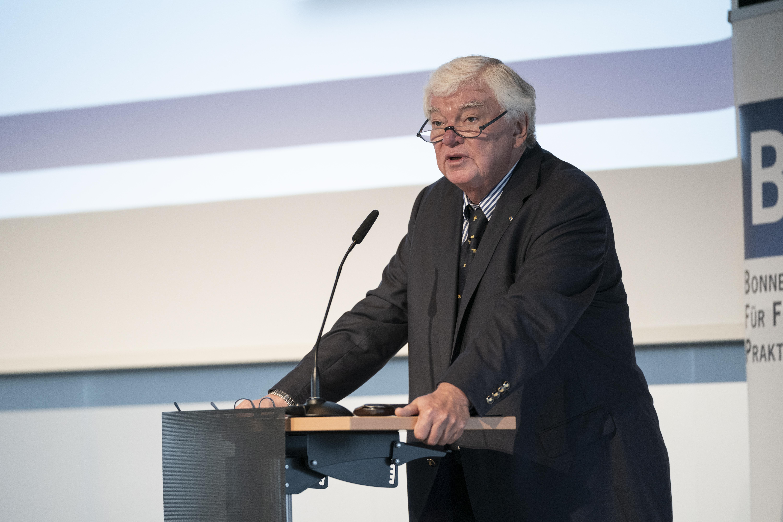 Bodo Hombach, Brost-Vorstand und Präsident der BAPP, führte ins Thema ein